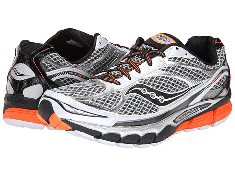 Saucony - Ride 7 (White/Black/Orange) Men's Running Shoes