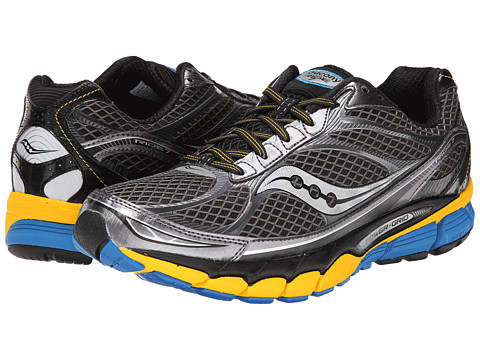 Saucony - Ride 7 (Grey/Yellow/Blue) Men's Running Shoes