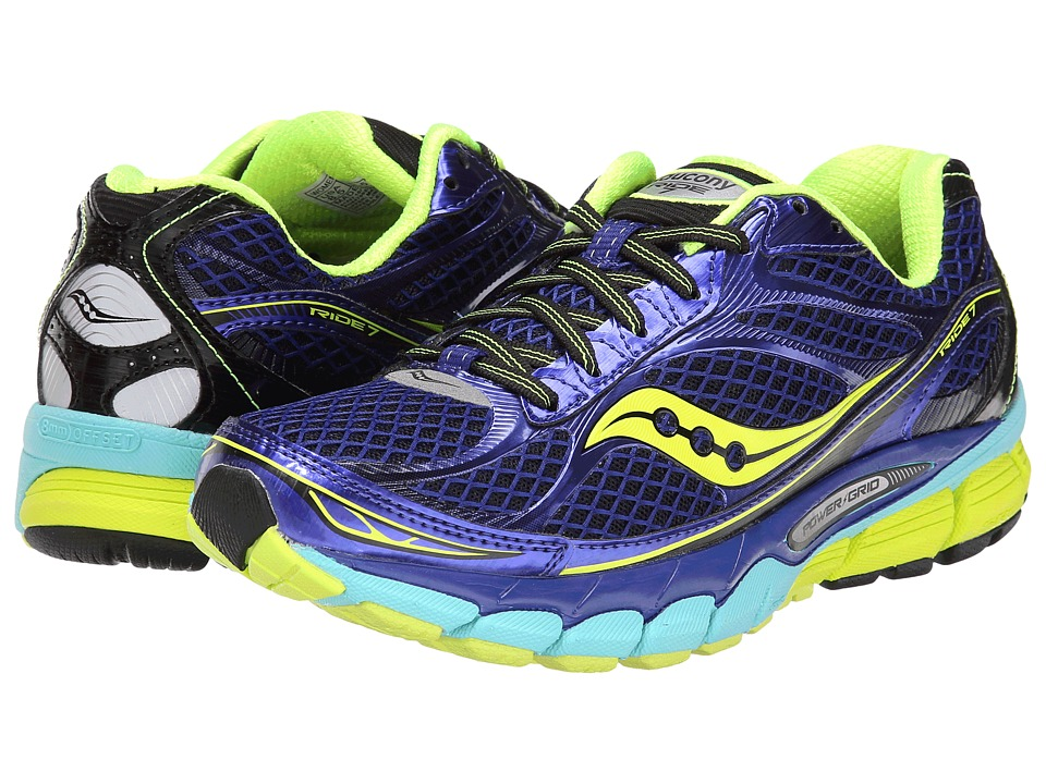 Saucony - Ride 7 (Twilight/Oxygen/Citron) Women's Running Shoes
