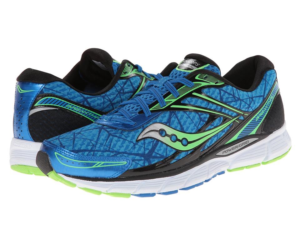 Saucony - Breakthru (Blue/Slime) Men's Running Shoes