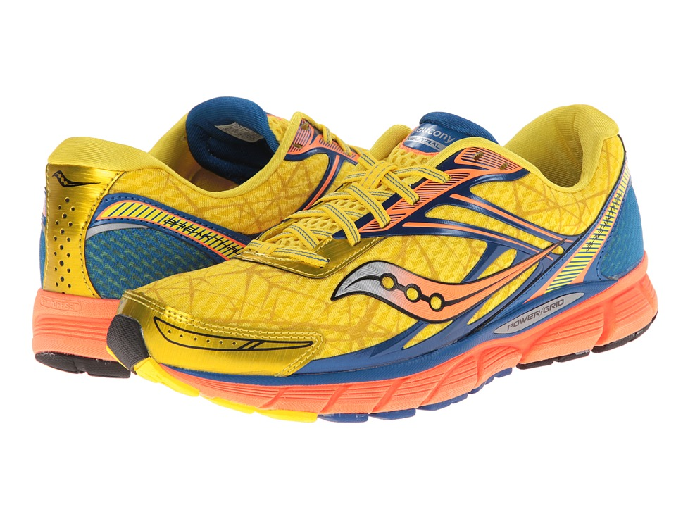 Saucony - Breakthru (Yellow/Blue/Orange) Men's Running Shoes
