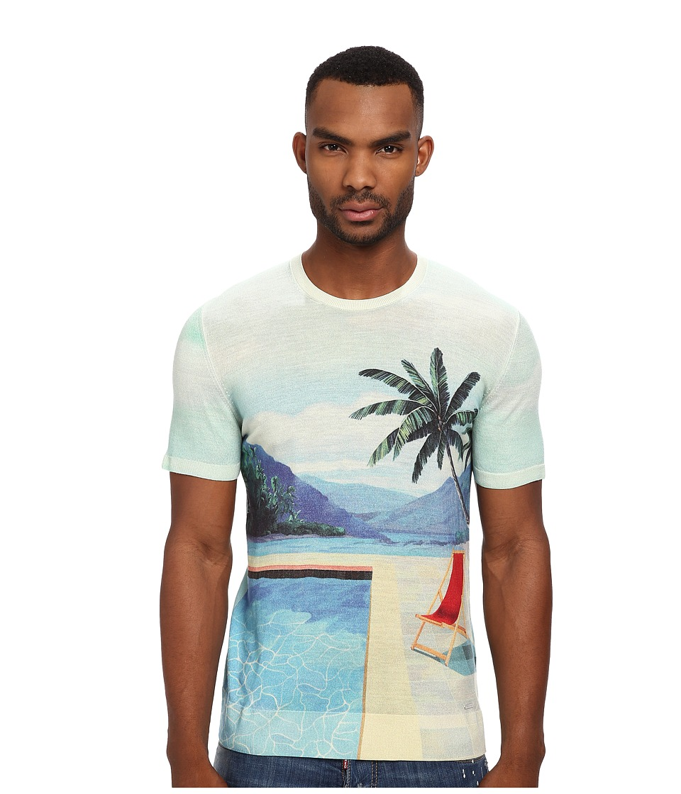 DSQUARED2 - Poolside S/S Sweater (Light Green) Men's T Shirt