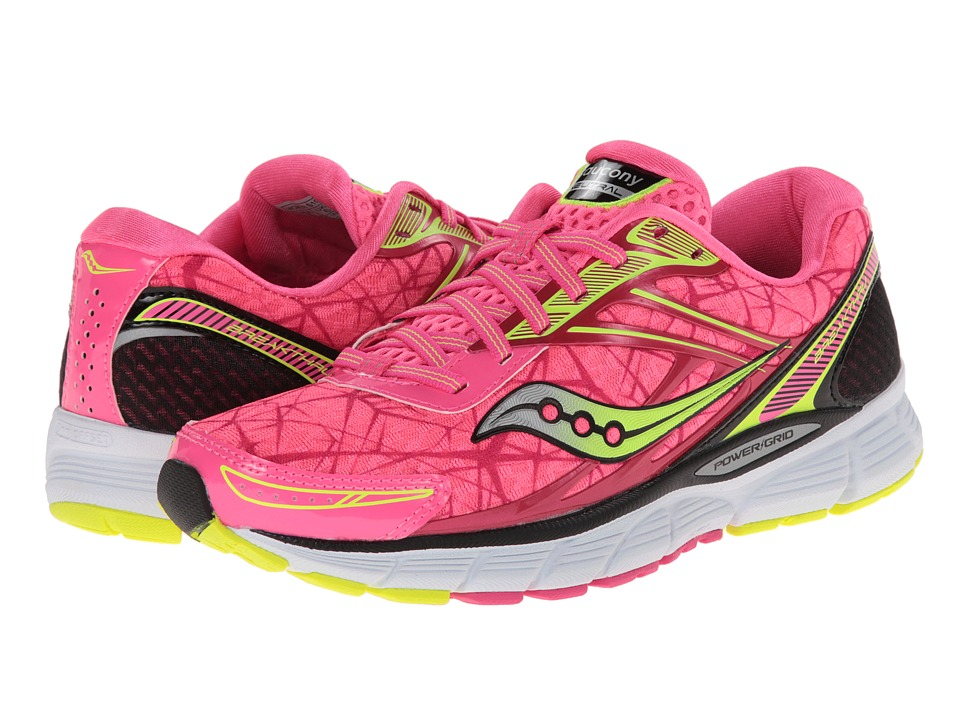 Saucony - Breakthru (Pink/Citron) Women's Running Shoes