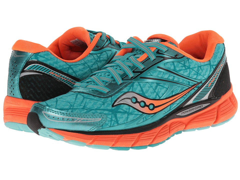 Saucony - Breakthru (Blue/Viziorange) Women's Running Shoes