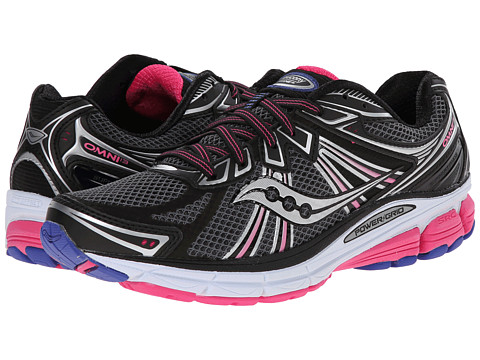 Saucony - Omni 13 (Black/Pink/Blue) Women's Running Shoes