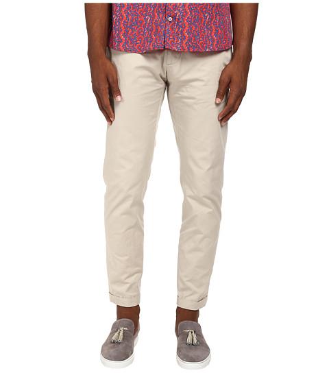 DSQUARED2 - Light Cotton Tennis Pant (Stone) Men's Casual Pants