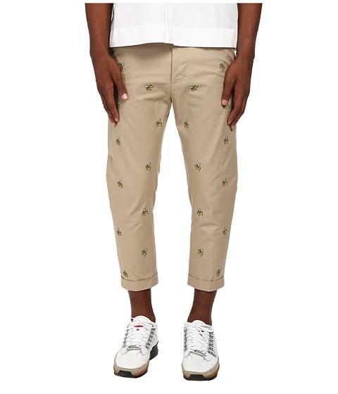DSQUARED2 - Hockney Cotton Twill Pant (Beige) Men's Casual Pants