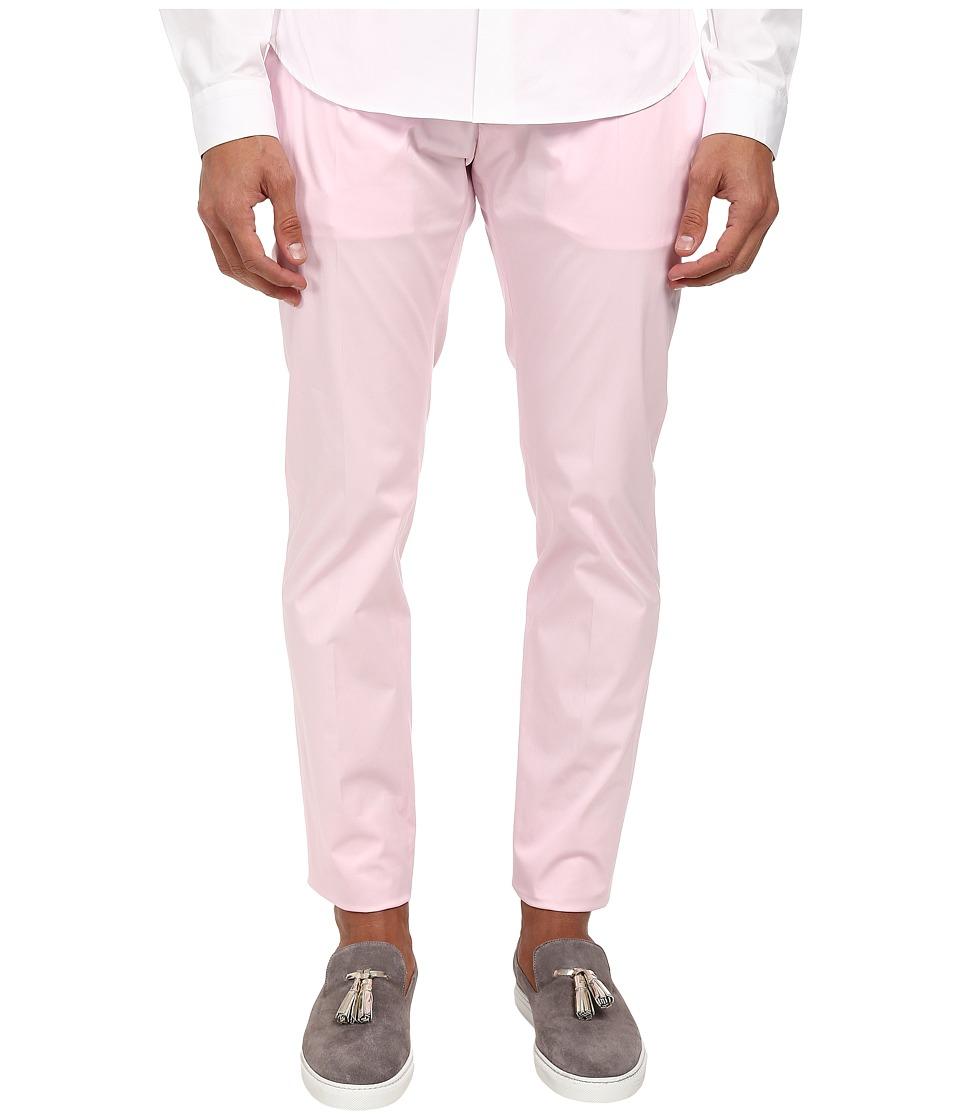 DSQUARED2 - Stretch Cotton Tennis Pant (Pink) Men's Casual Pants