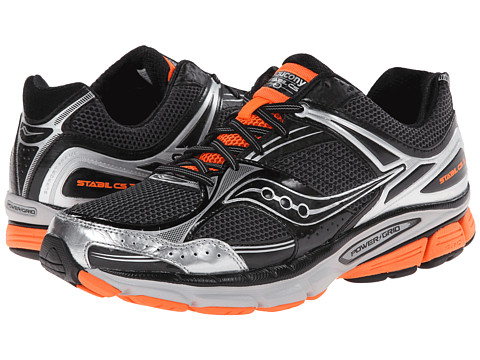 Saucony - Stabil CS 3 (Black/Silver/Viziorange) Men's Running Shoes