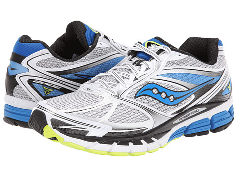 Saucony - Guide 8 (White/Blue/Citron) Men's Running Shoes