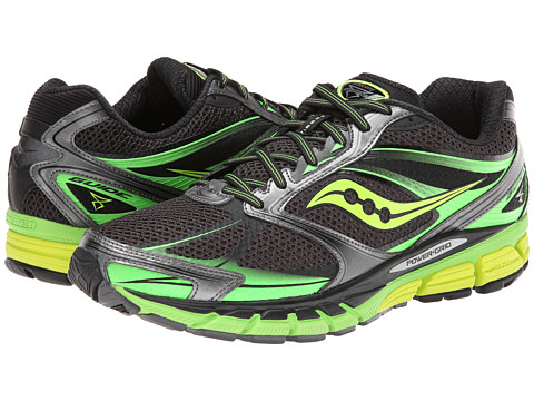 Saucony - Guide 8 (Black/Slime/Citron) Men's Running Shoes