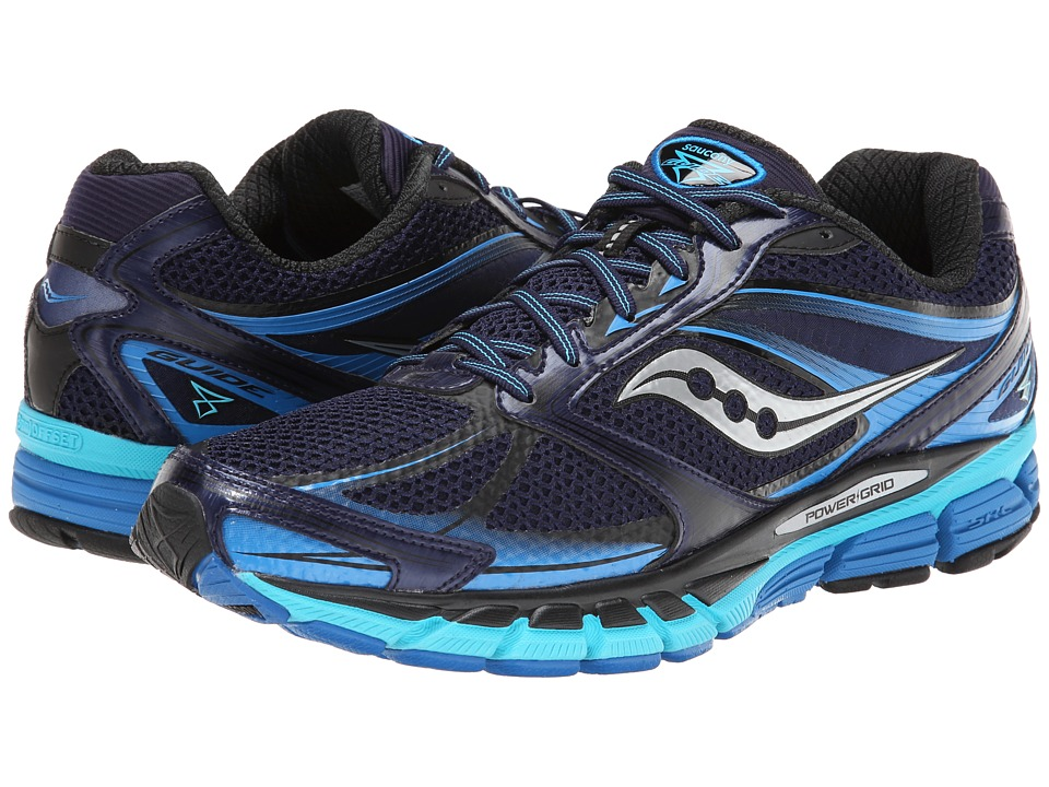 Saucony - Guide 8 (Navy/Blue/Silver) Men's Running Shoes