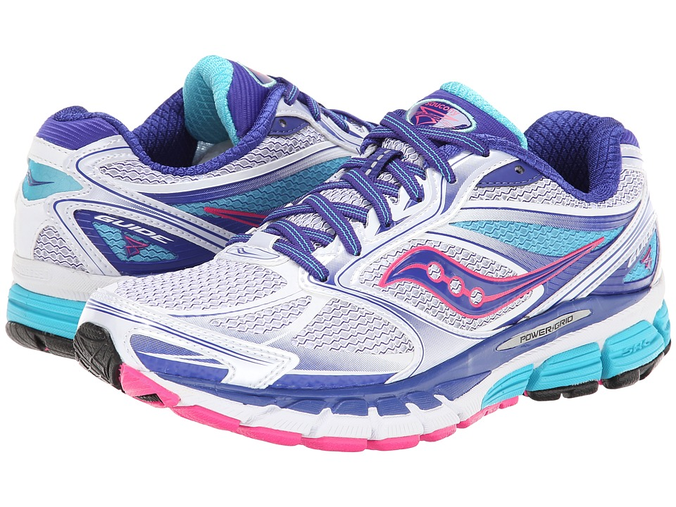 Saucony - Guide 8 (White/Twilight/Pink) Women's Running Shoes