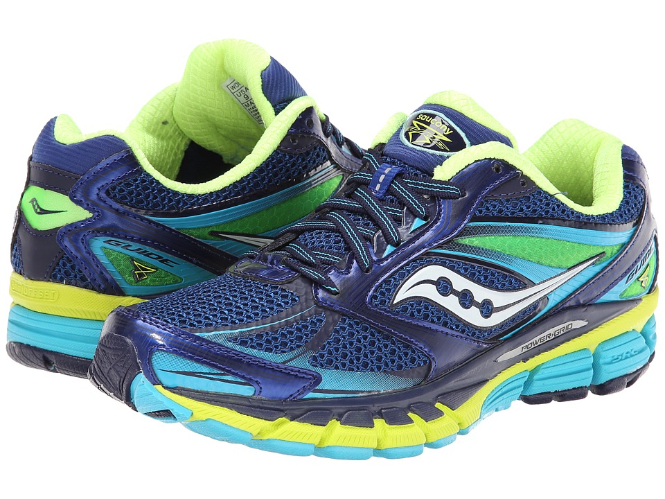 Saucony - Guide 8 (Blue/Navy/Yellow) Women's Running Shoes