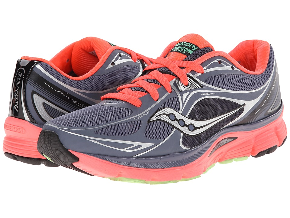 Saucony - Mirage 5 (Grey/Vizicoral/Green) Women's Running Shoes