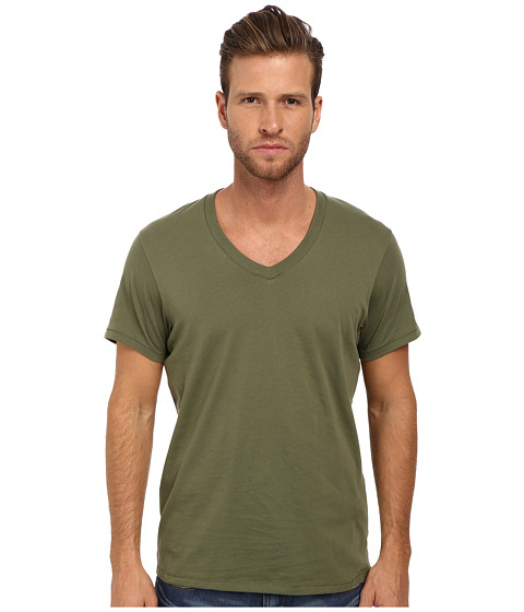 Alternative - Perfect V-Neck (Camo Green) Men's T Shirt
