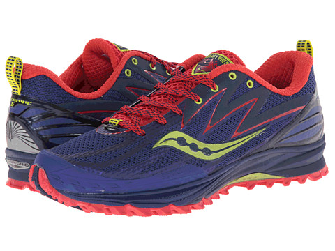 Saucony - Peregrine 5 (Purple/Red/Green) Women's Running Shoes