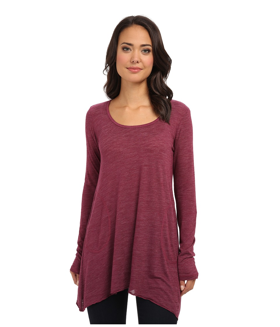 Allen Allen - L/S Angled 2-Pocket Scoop Tunic (Syra) Women's Long Sleeve Pullover
