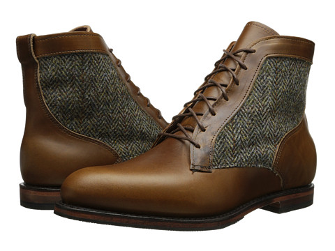 Allen-Edmonds - Shaker Heights (Brown Leather/Olive Tweed) Men's Boots
