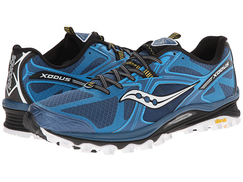Saucony - Xodus 5.0 (Blue/Black/Yellow) Men's Running Shoes