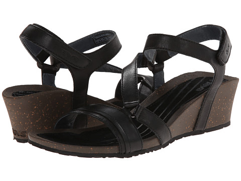 Teva - Cabrillo Crossover Wedge (Black) Women's Sandals