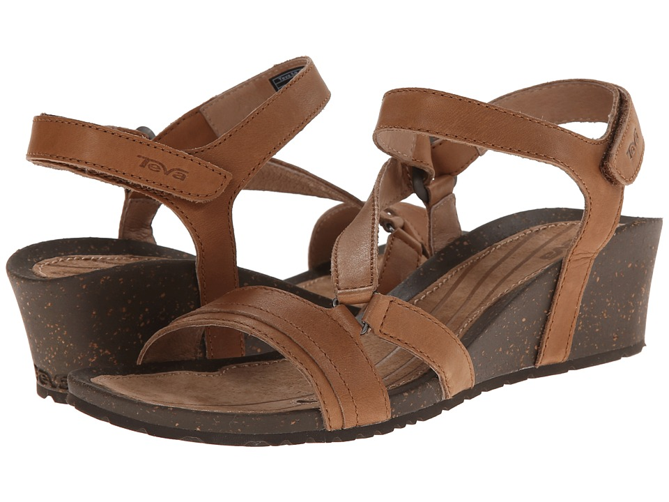 Teva - Cabrillo Crossover Wedge (Tan) Women's Sandals