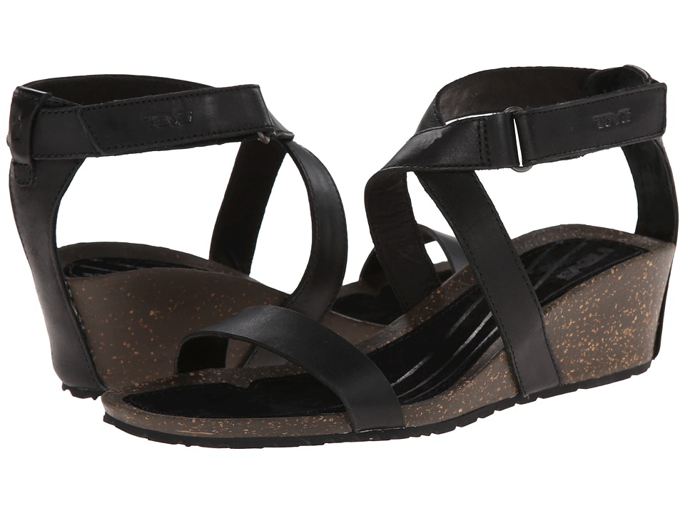 Teva - Cabrillo Strap Wedge 2 (Black) Women's Sandals