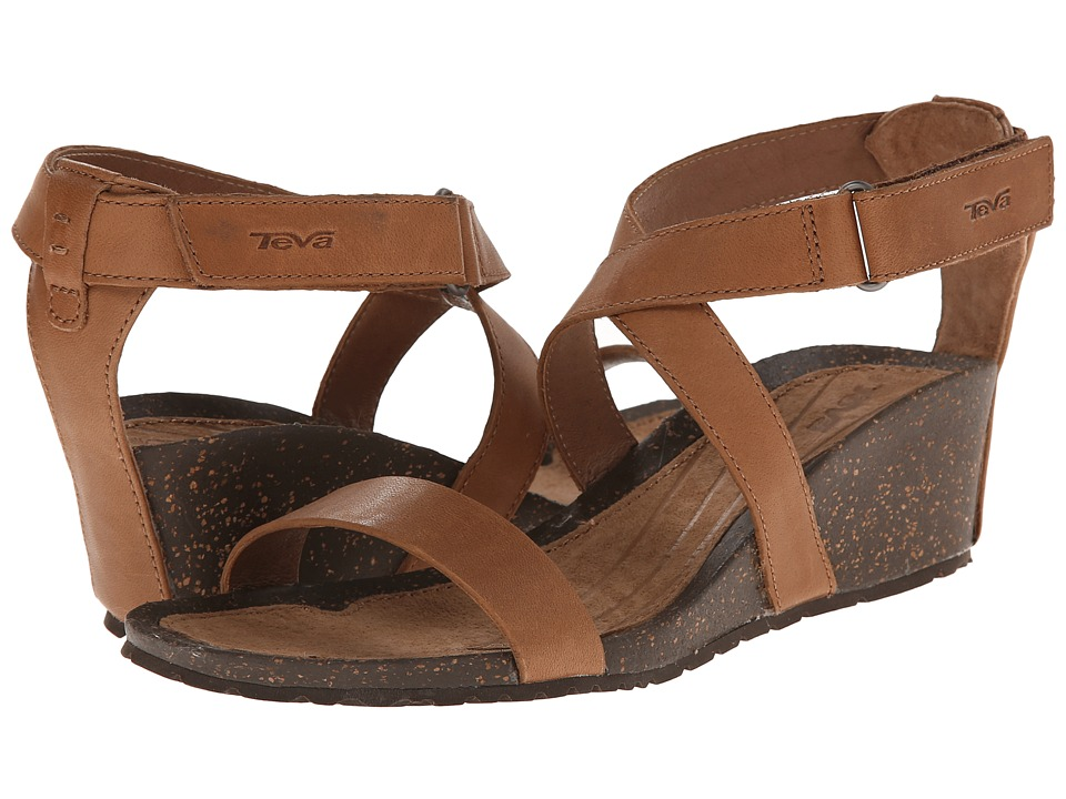 Teva Cabrillo Strap Wedge 2 (Tan) Women