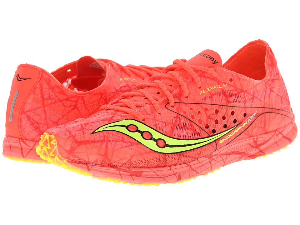 Saucony - Endorphin Racer (Vizicoral/Citron) Women's Running Shoes