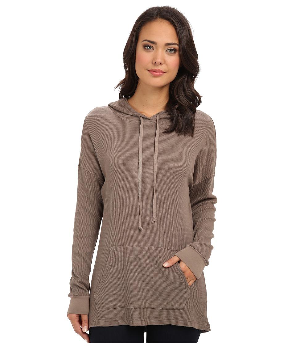 Allen Allen - L/S High/Low Pullover Hoodie (Mushroom) Women's Sweatshirt