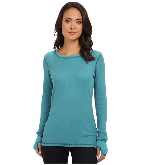 Allen Allen - L/S Thumbhole Crew (Teal) Women's Long Sleeve Pullover