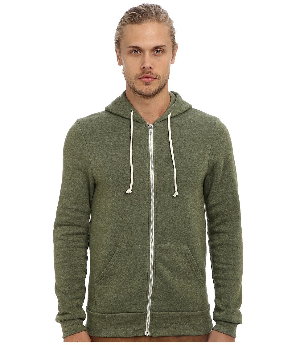 Alternative - Rocky Zip Hoodie (Eco True Camo Green) Men