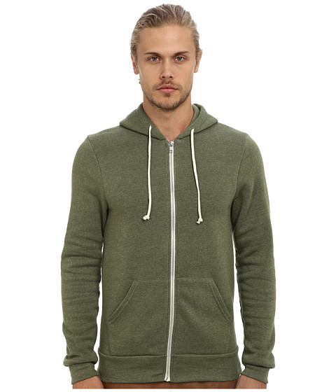 Alternative - Rocky Zip Hoodie (Eco True Camo Green) Men's Sweatshirt