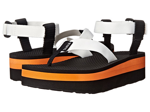 Teva - Flatform Sandal (White/Orange) Women's Sandals