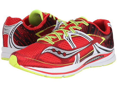 Saucony - Fastwitch (Red/White/Citron) Men's Running Shoes