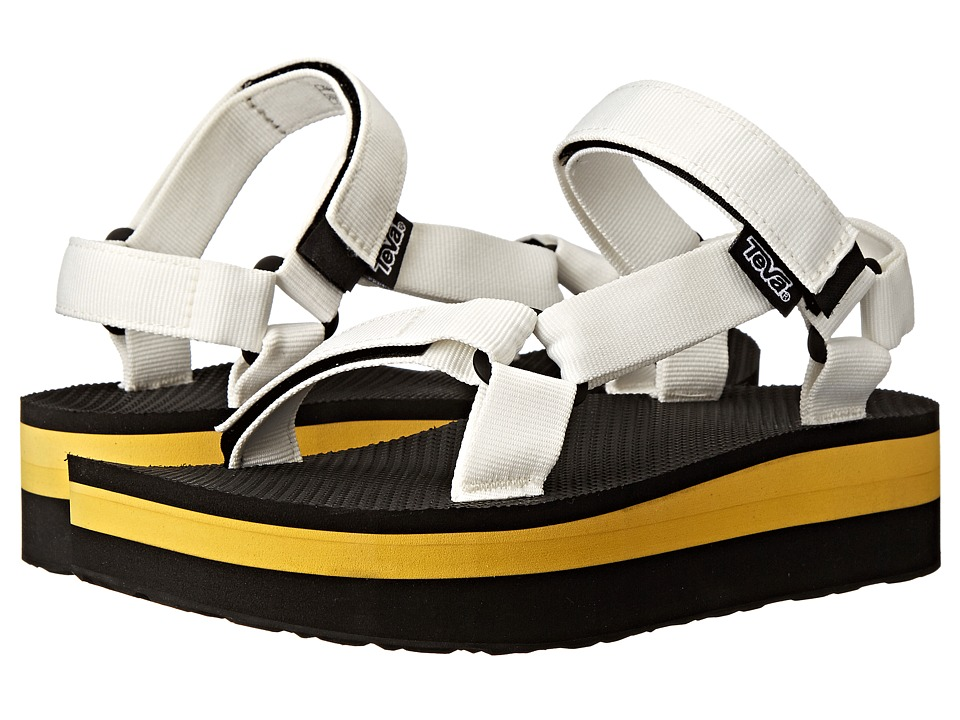 Teva - Flatform Universal (White/Yellow) Women's Sandals
