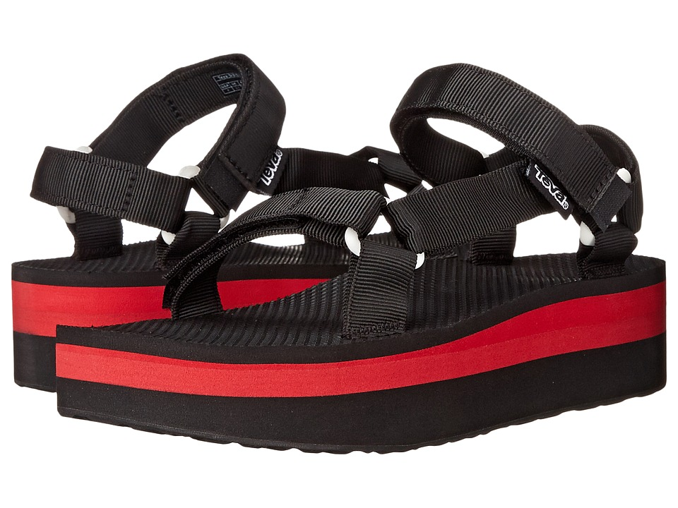 Teva - Flatform Universal (Black/Red) Women's Sandals