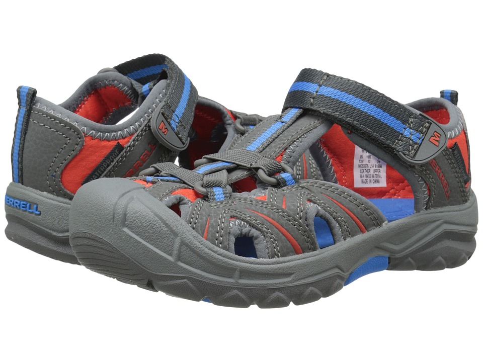 Merrell Kids - Hydro (Toddler/Little Kid) (Grey/Blue) Boys Shoes