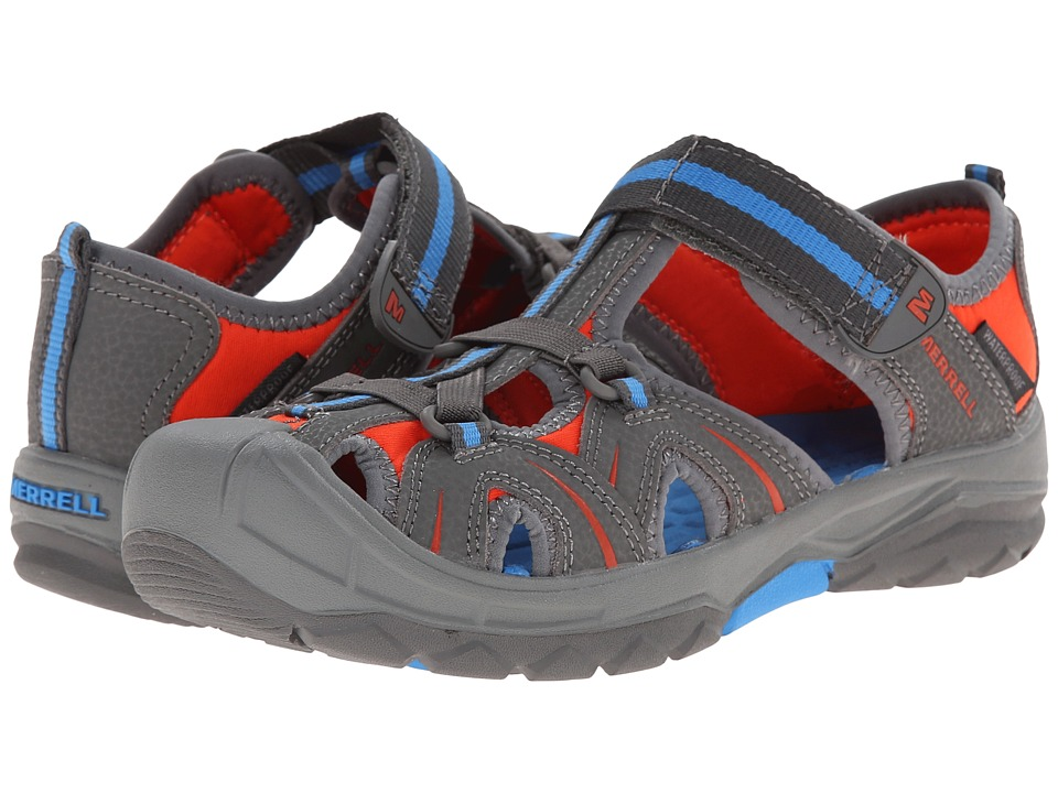 Merrell Kids - Hydro (Big Kid) (Grey/Blue) Boys Shoes