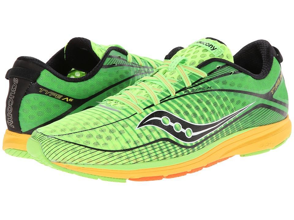 Saucony - Type A6 (Slime/Yellow/Black) Men's Running Shoes