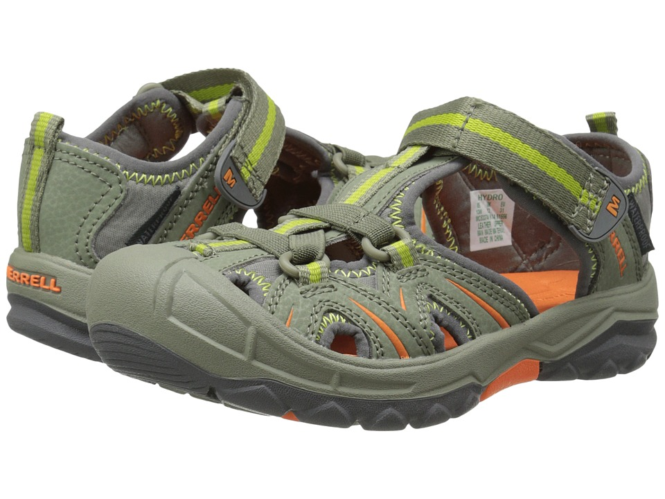 Merrell Kids - Hydro (Toddler/Little Kid) (Olive/Orange) Boys Shoes