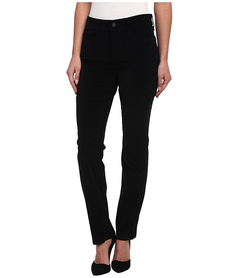 NYDJ - Samantha Slim Velveteen in Black (Black) Women