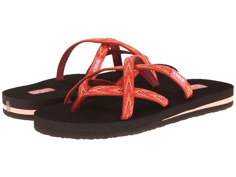 Teva - Olowahu (Softground Orange) Women's Sandals