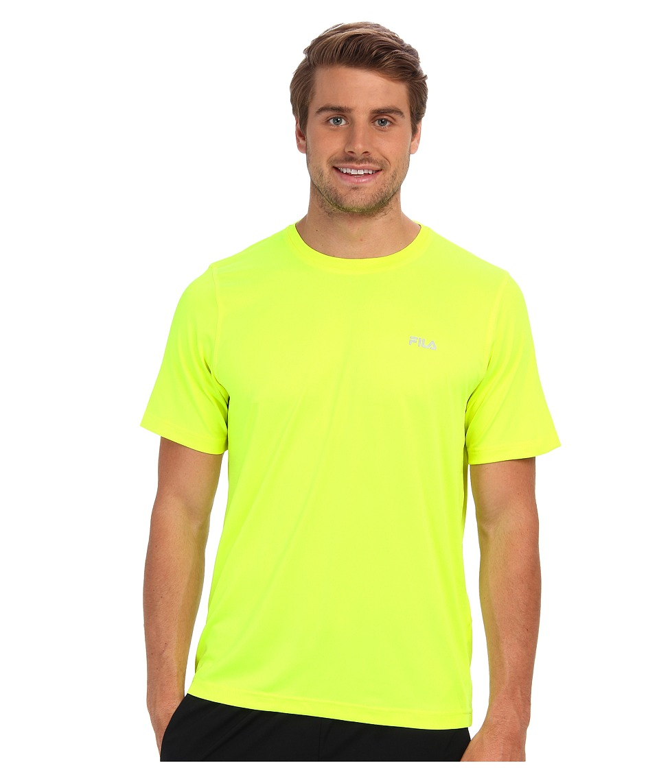 Fila - Short Sleeve Top (Safety Yellow) Men's Short Sleeve Pullover