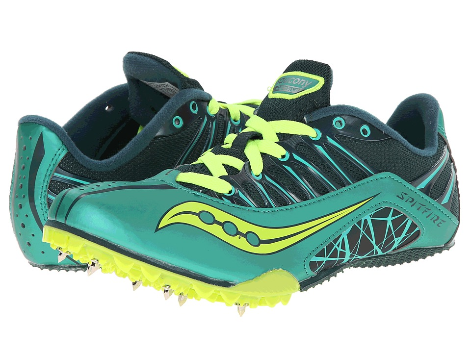 Saucony - Spitfire (Green/Citron) Women's Running Shoes