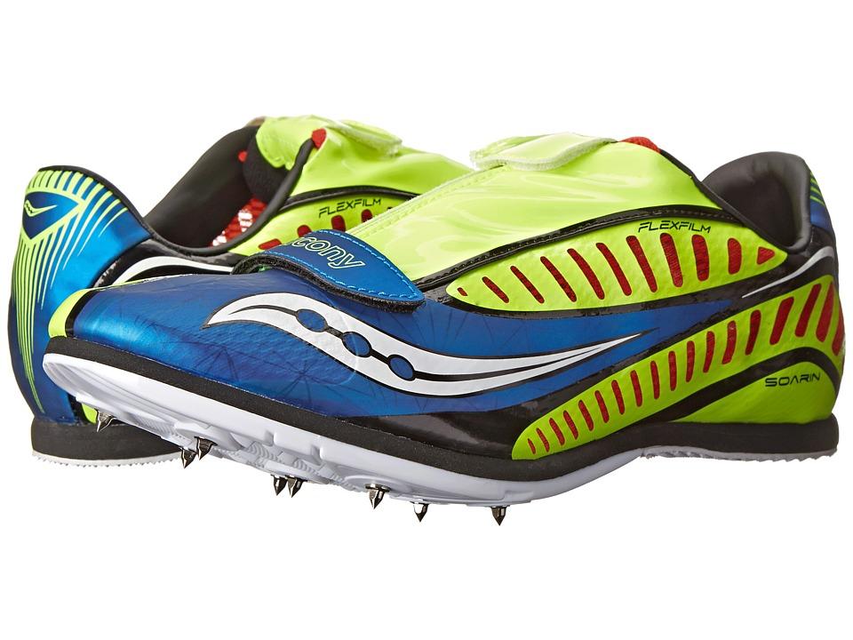 Saucony - Soarin J (Royal/Citron/Red) Men's Running Shoes
