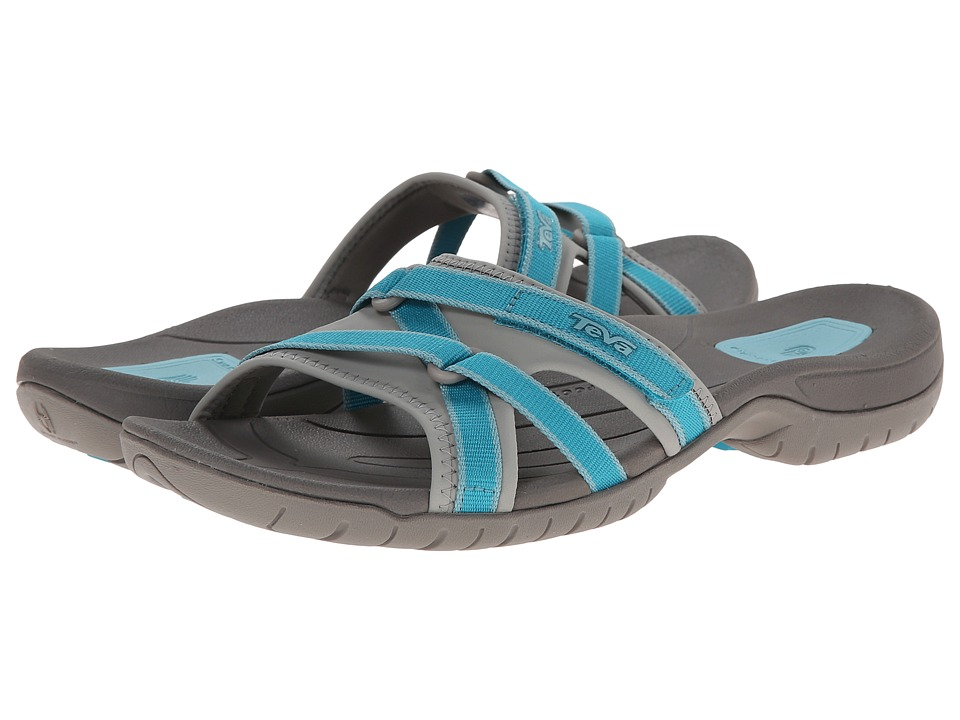Teva - Tirra Slide (Lake Blue) Women's Slide Shoes plus size,  plus size fashion plus size appare