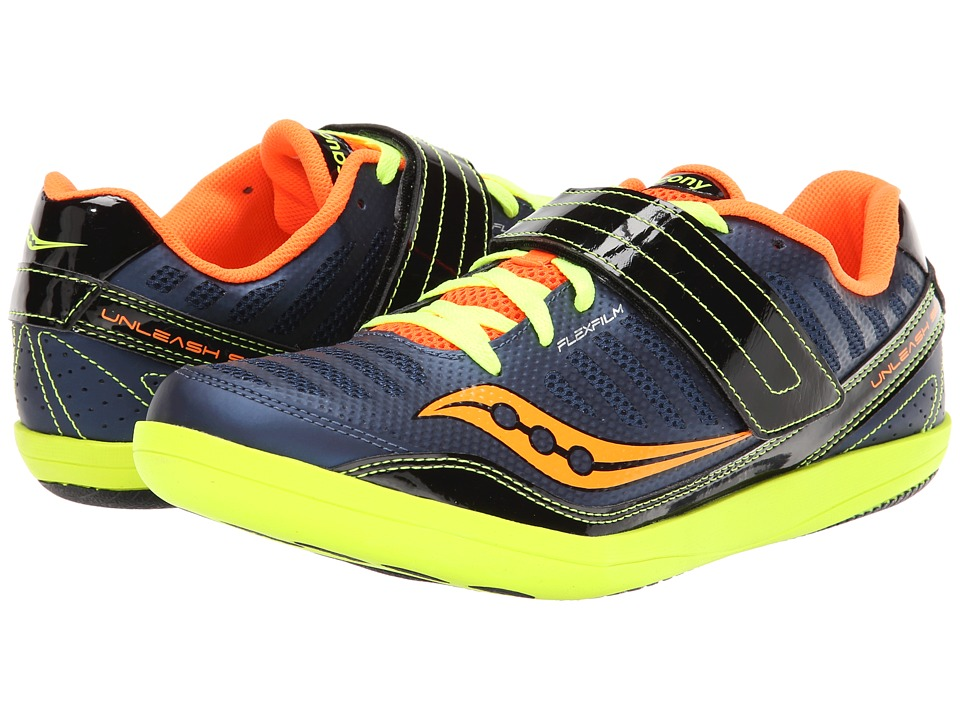 Saucony - Unleash SD (Blue/Citron/Viziorange) Men's Running Shoes