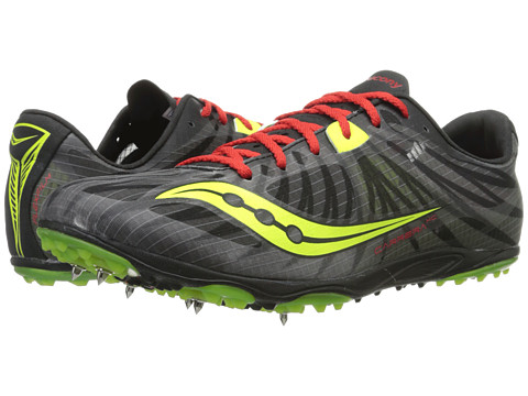 Saucony - Carrera XC (Black/Red/Citron) Men's Running Shoes