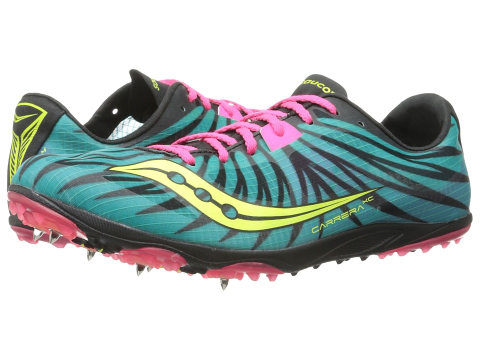 Saucony - Carrera XC W (Teal/Pink/Citron) Women's Running Shoes